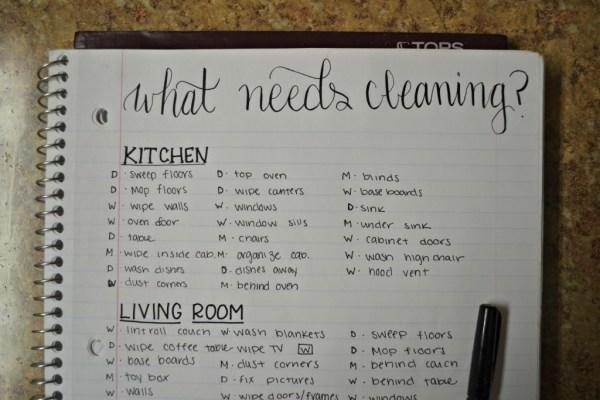 clean schedule step 2