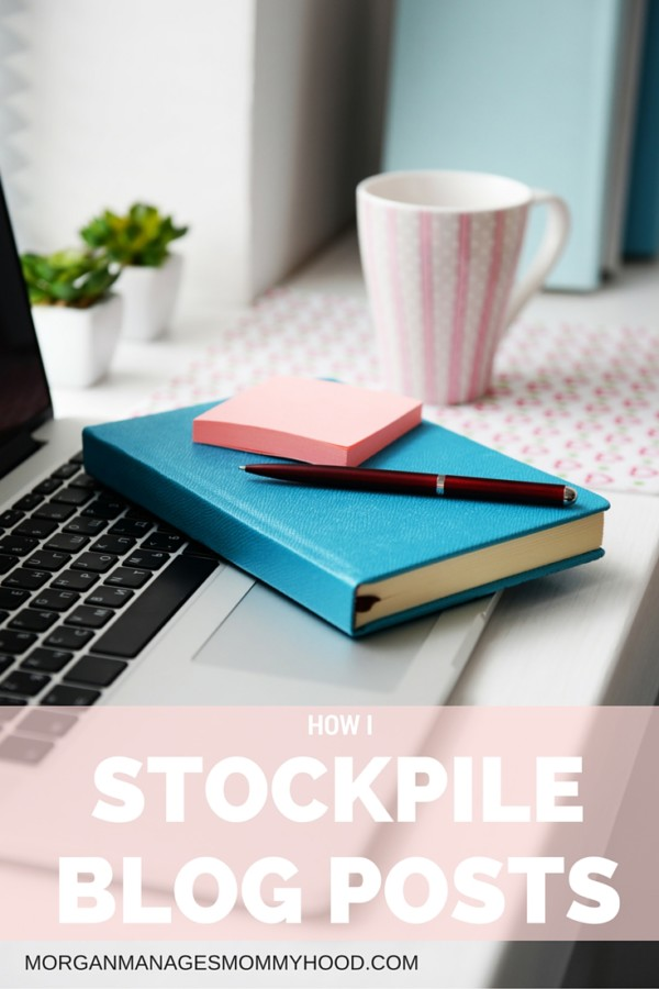 Creating a stockpile of blog posts is extremely useful in cutting down on the stress of blogging and creating an editorial calendar.