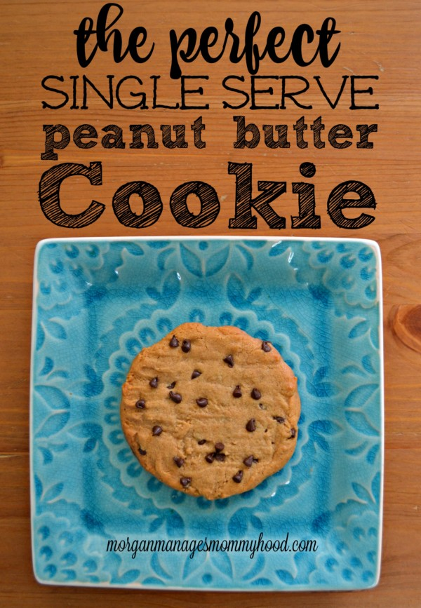 This single serve peanut butter cookie is simple, easy, and a reasonable size. No need to practice self-restraint when you're making only one!