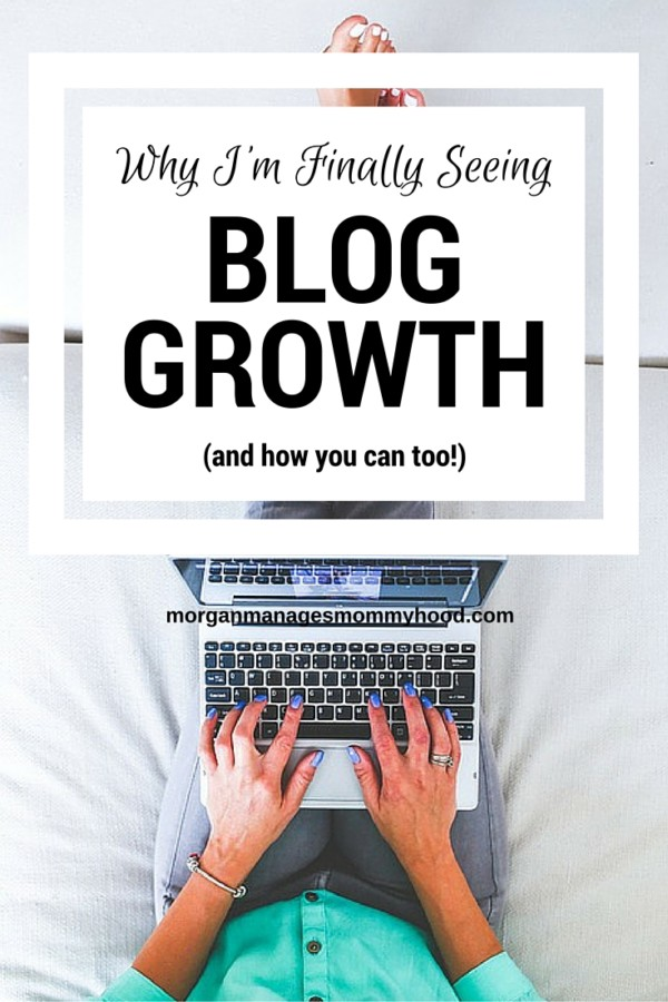 Are your frustrated because your blog isnt growing as quickly as you'd like? aWondering what you need to do to get your blog growing? Read on to find out the reasons why I'm finally seeing blog growth.