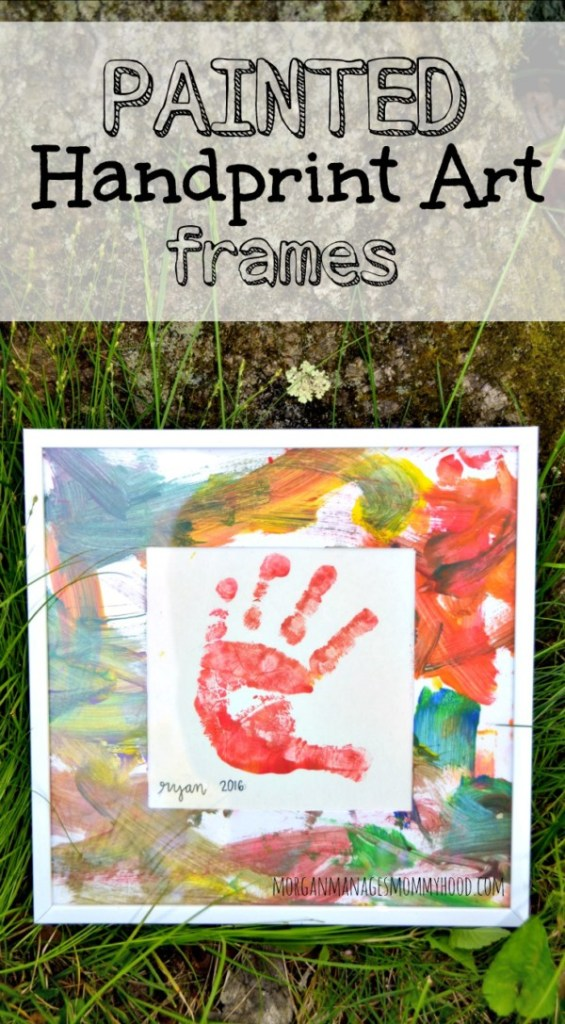 These super simple paint handprint art frames are adorable and perfect for gifts! Any parent or grandparent would love this combination of kid art and handprints!