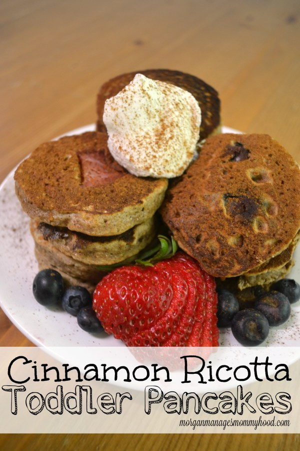 These Patriotic Flag Pancakes are the perfect way to start your 4th of July morning! The Ricotta Cinnamon Pancakes are the perfect breakfast for little tummies!