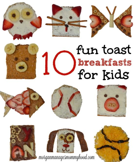Looking for a quick way to make school morning breakfasts more fun? Check out these 10 fun toast breakfasts for kids for inspiration.