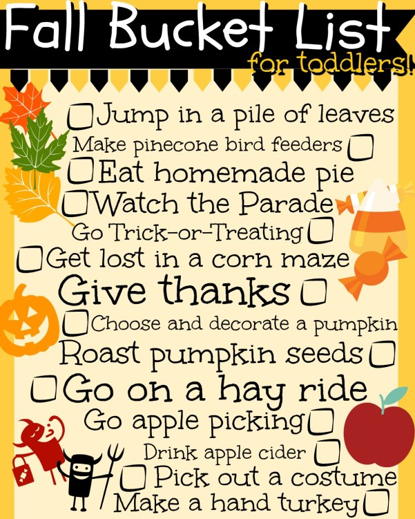 Fall Bucket List for Toddlers