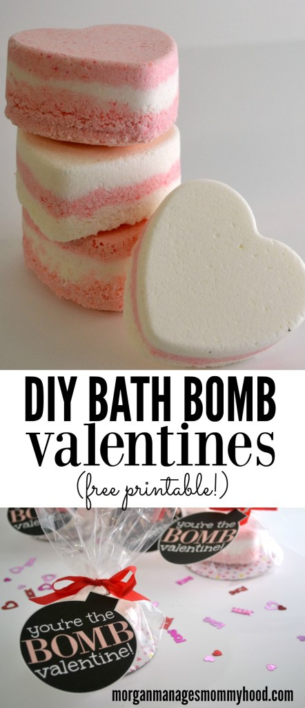 These DIY Bath Bomb Valentines are a fun alternative to your typical candy-packed valentines. Pamper your friends and family this Valentine's Day with these no-candy Valentines with a free printable!