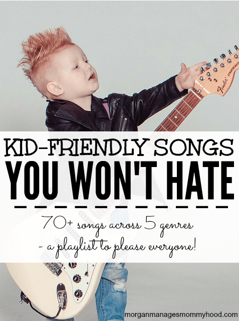 Music is such an important part of childhood, but some of the kid-friendly songs out there can drive parents insane. Keep reading to find 5 playlists for 5 different genres. Over 70 songs that kids will love and parents won't hate!