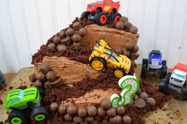 Marvelous Diy Monster Truck Birthday Cake Morgan Manages Mommyhood Funny Birthday Cards Online Elaedamsfinfo
