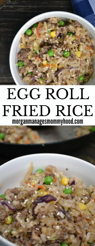 Egg Roll Fried Rice // easy meals, easy dinners, quick dinner, 20 minute dinner, fried rice, egg roll