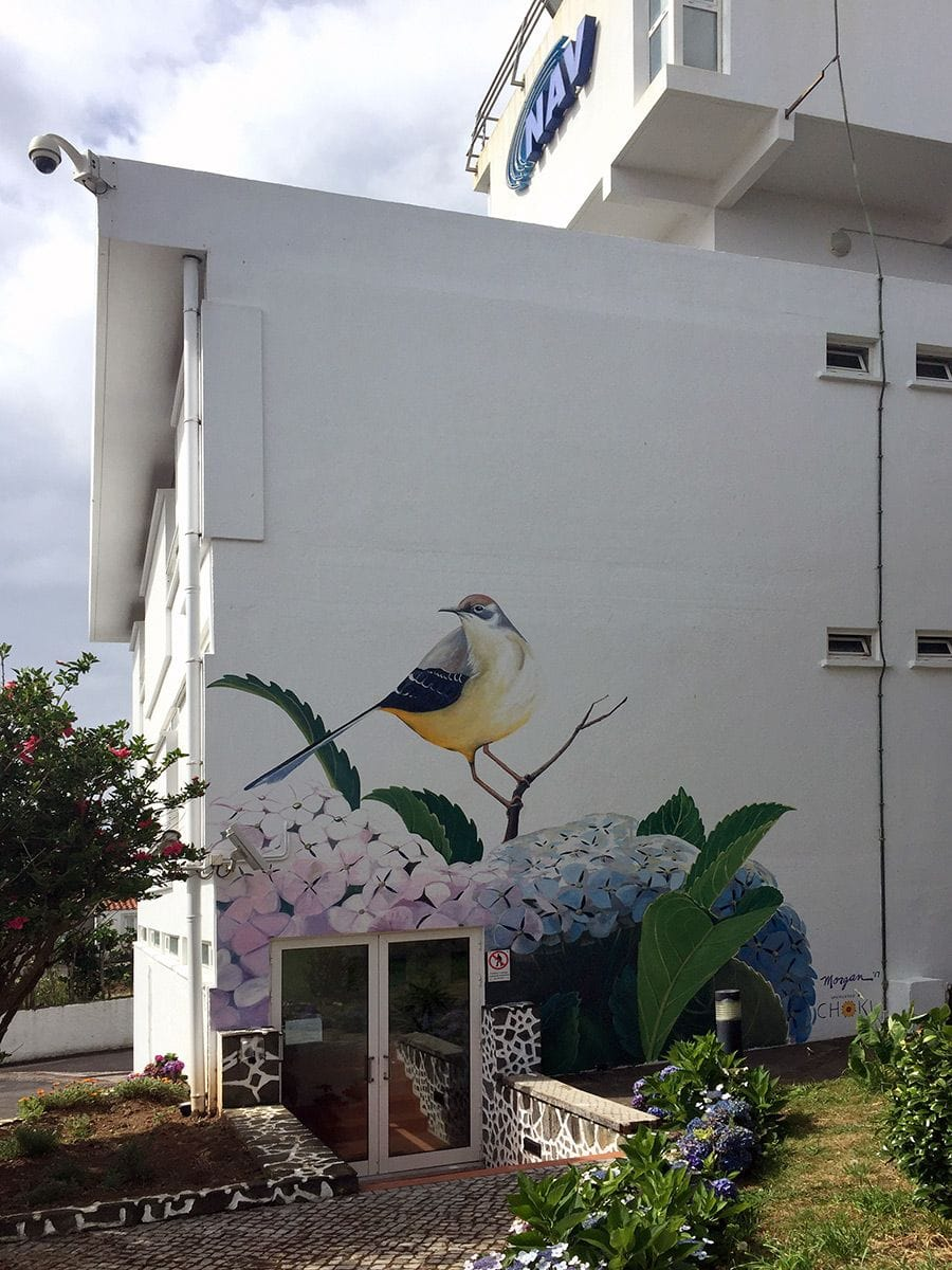 Control tower mural