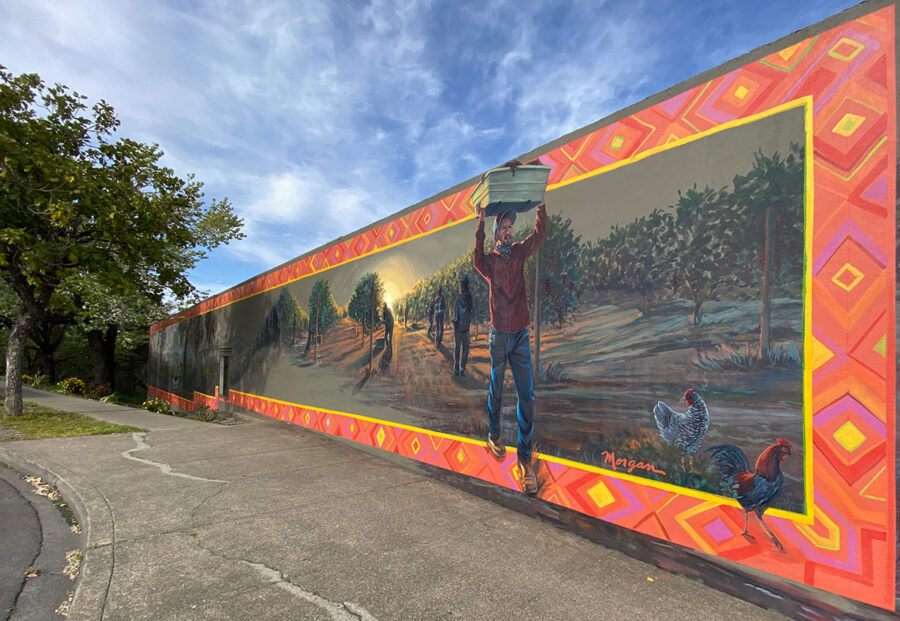 Farming Wall Painting Mural by Bay Area Mural Artist