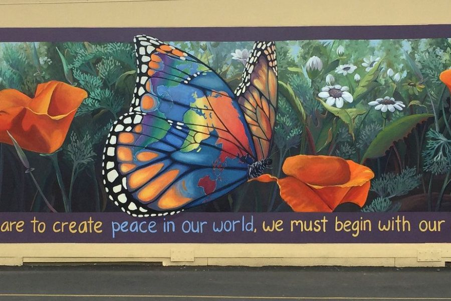 """""""Peace In Our World"""" mural at Oak Elementary School"""