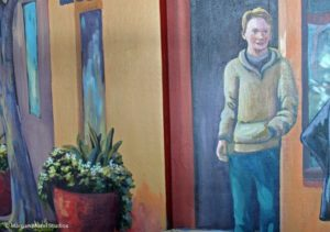 Painted Portrait of Boy for Mural