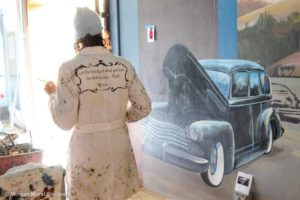 Classic Car Mural and a Pen