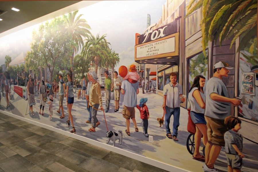 Fox Theater sign painted on California mural