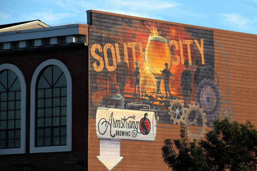 South City Mural for Armstrong Brewing Co.