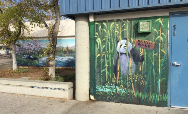 Stocklmeir Elementary Mural with Panda and Bamboo