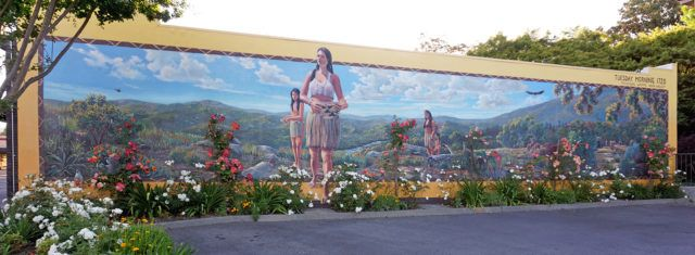 Native American Mural in Downtown Napa (Tribute to the Mishewal Wappo Tribe)