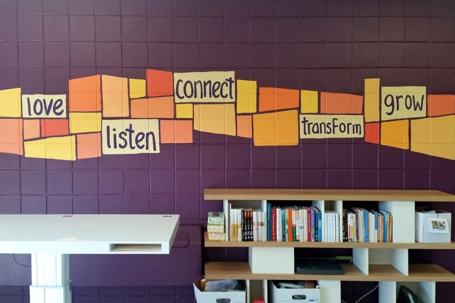 Positive Words Mural for Hand in Hand Headquarters (An Organization Promoting Healthier Parent-Child Communication)