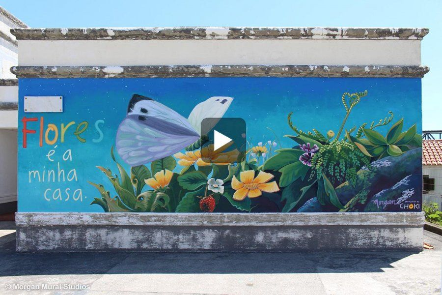 Time lapse of kindergarten mural painting