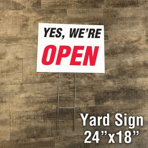 Essential business yard sign