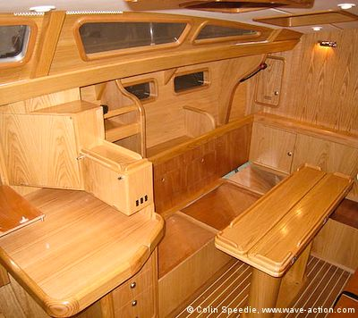 The OVNI 435 Aluminum Sailboat Interior Layout Showing