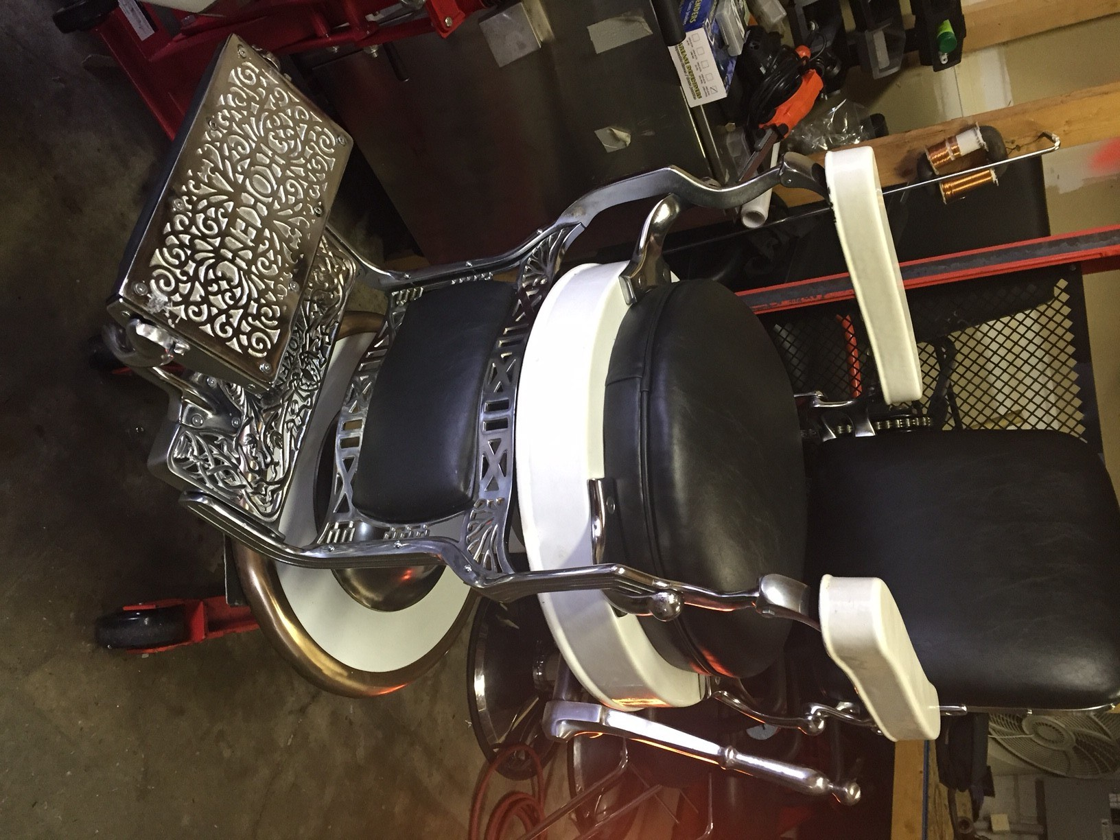 antique leather chair repair covers singapore morgan's hydraulic toronto   we don't paint them, fix them!