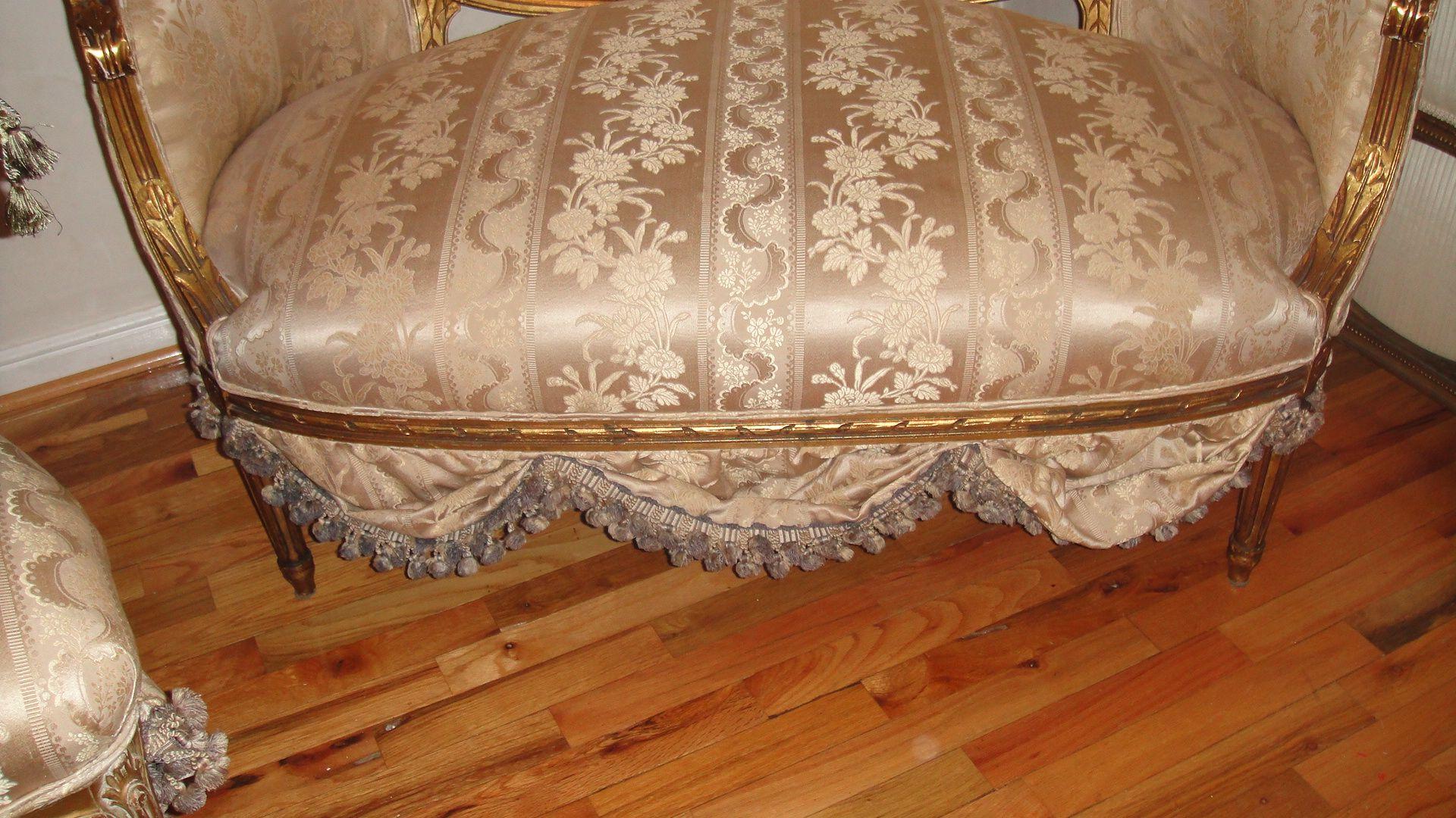antique french sofa ebay small convertible settee loveseat circa 1800 39s scallops
