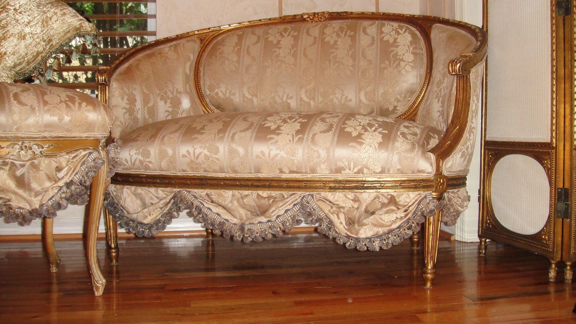 antique french sofa ebay grey chaise settee loveseat circa 1800 39s scallops