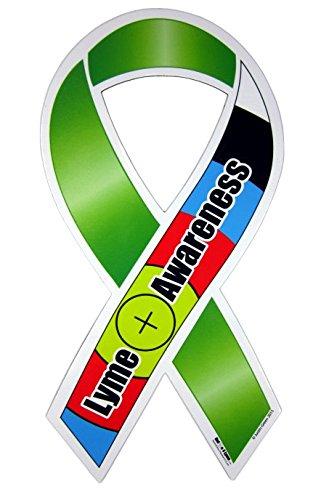 Lyme Disease Awareness Ribbon Car Magnet – 4 x 8 inch