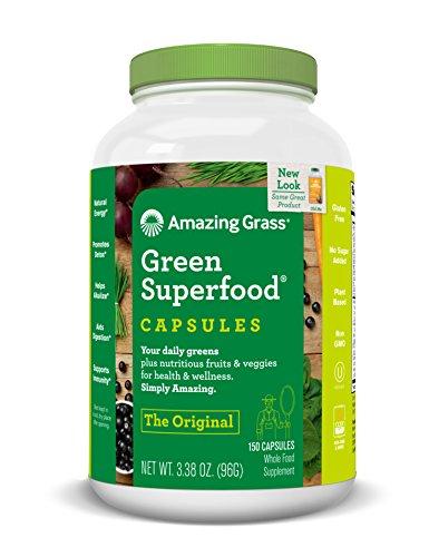Amazing Grass Green SuperFood Original, 3.38 oz ( 96 g ) 150 capsules.