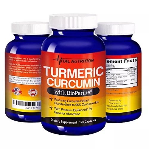 Turmeric Curcumin with BioPerine – #1 Strongest Potency with Greatest Support – 2 Month Supply -Order Risk Free