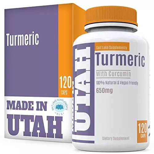 Turmeric Curcumin with Bioperine – Best Absorption and Bioavailability, Anti-Inflammatory And Natural Antioxidant With 95% Curcuminoids For Joint Pain Relief – Made in Our Lab in Utah