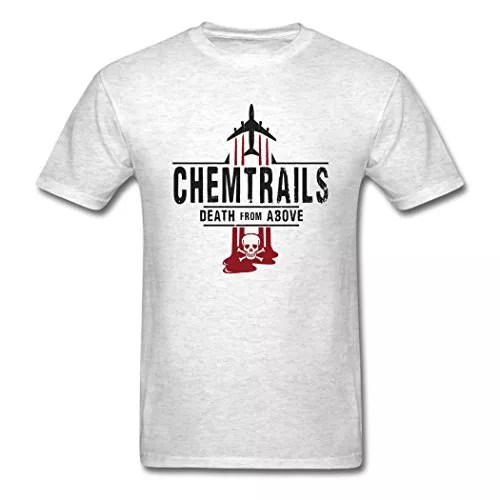 EivonTS Fashion Men's Chemtrails Conspiracy Theory T-Shirts Light oxford L