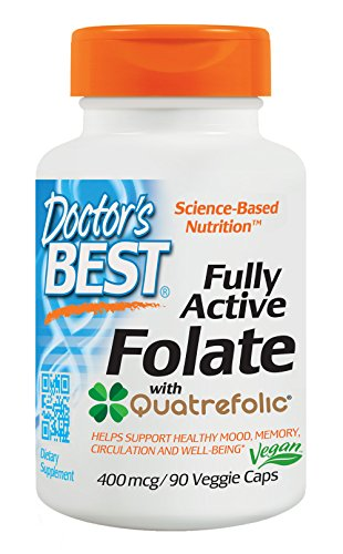Doctor's Best Best Fully Active Folate 400mcg, 90 Count