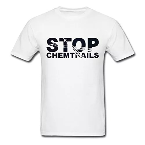 BST Stop Chemtrails T-Shirts For Men Fashion White XXL