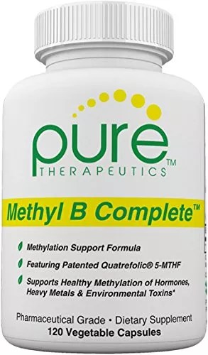 Pure Therapeutics Pharmaceutical Grade Methyl B Complete Dietary Supplement – 120 Vegetable Capsules
