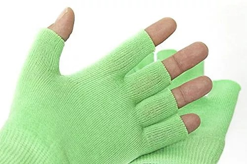 Best Gel Cotton Moisturizing Gloves Touch Screen – Wear at night – Heals Dry Skin and Cracked Hands Fast – Anti Aging Hand Treatment – Gel Lining Infused with Essential Oils and Vitamins