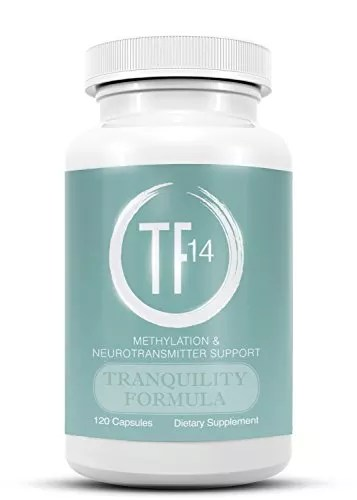 Natural Anxiety Relief Supplements, MTHFR Methylation and Neurotransmitter Booster, Non Habit Forming Stress Support, Money Back Guarantee, Vegetarian, TF14 Tranquility Formula