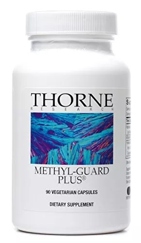 Thorne Research – Methyl-Guard Plus – Methylation Support Supplement with 5-MTHF (folate), B2, B6, and B12 – 90 Capsules