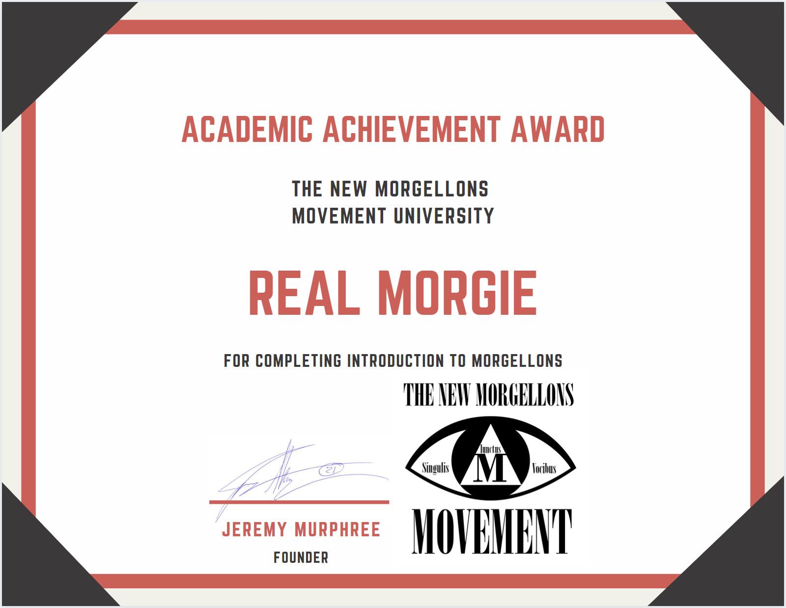 Morgellons course certificate