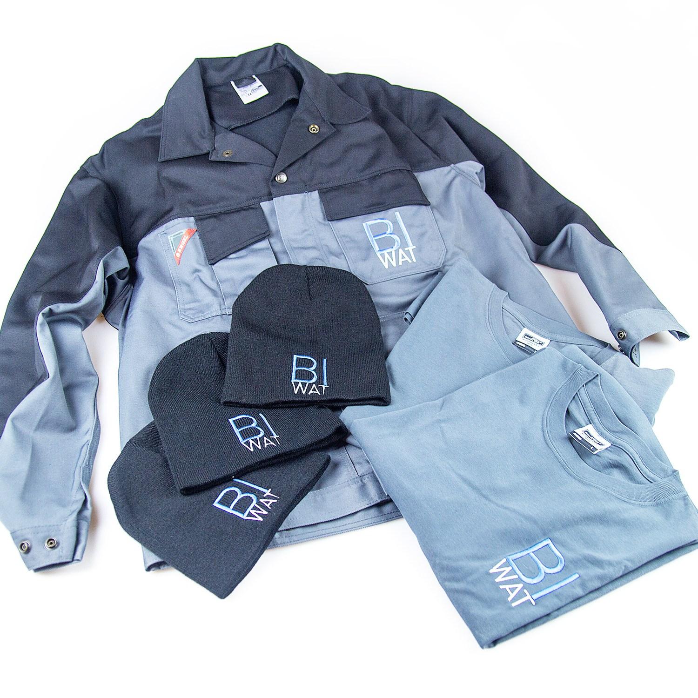 BI-WAT Textildruck T-shirts Hauben Jacken
