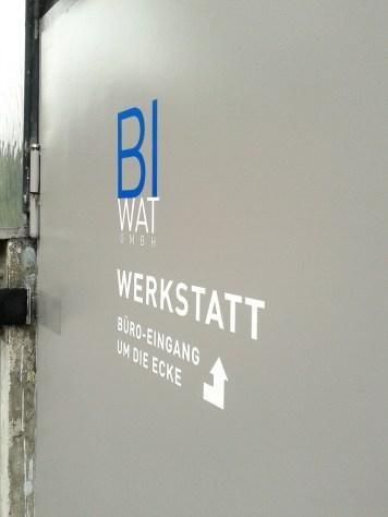 BI-WAT GmbH - Werkstattbeschriftung