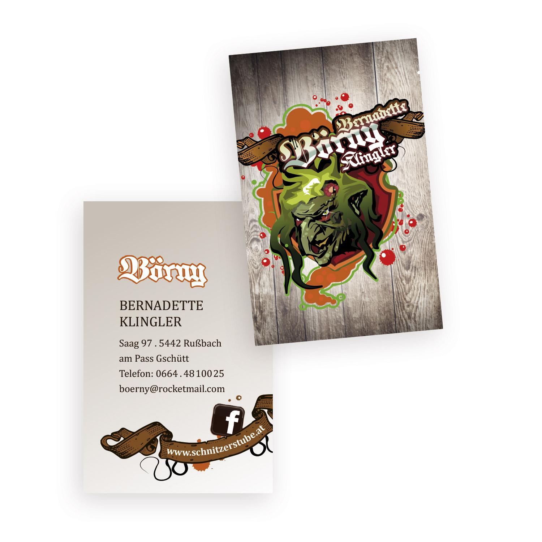 Visitenkarten Schnitzerstube Börny