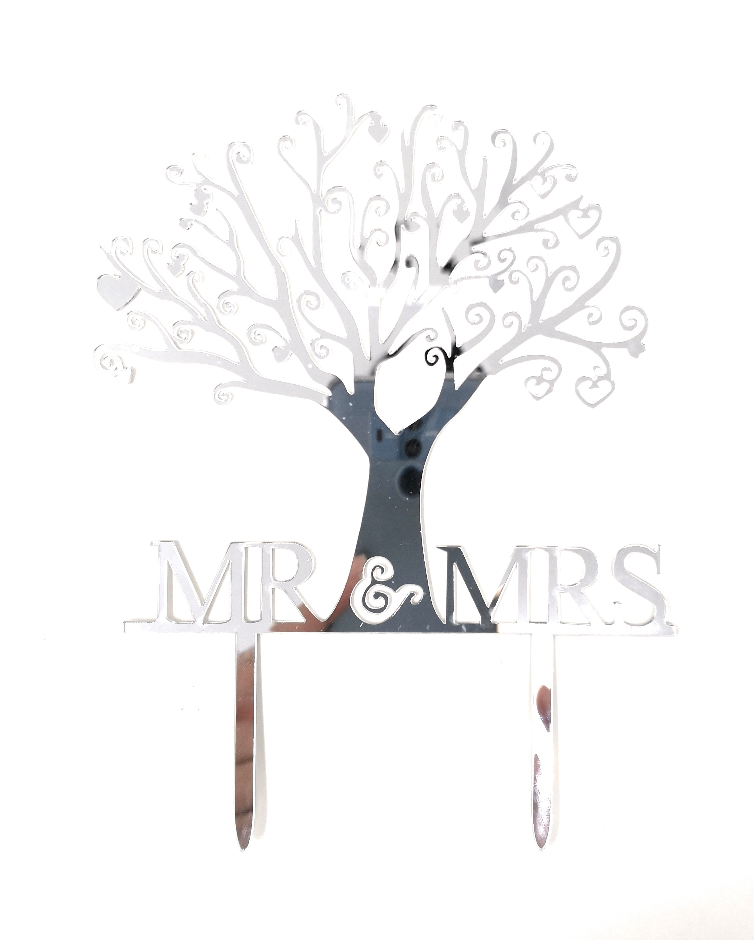 Mr and Mrs Cake Topper Acrylic Love Wedding Cake Topper
