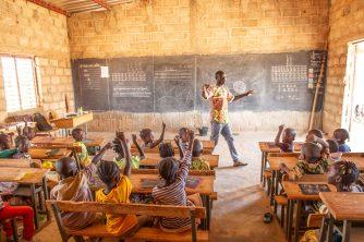 Une salle de classe à Yagma