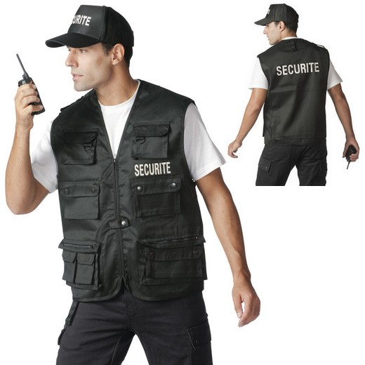 "Gilet multipoche logo ""SECURITE"""
