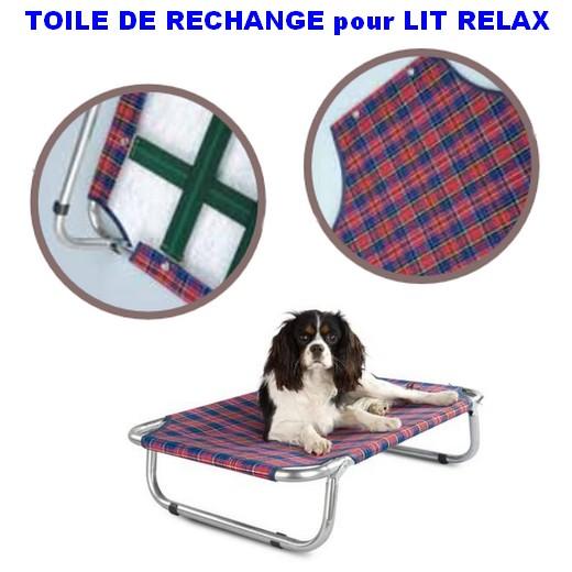 Toile de rechange pour lit pliant Relax