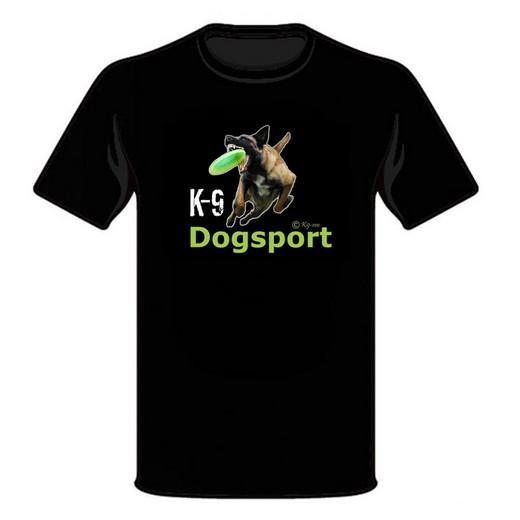 "Tee Shirt ""Dogsport"" (frisbee) - Malinois"