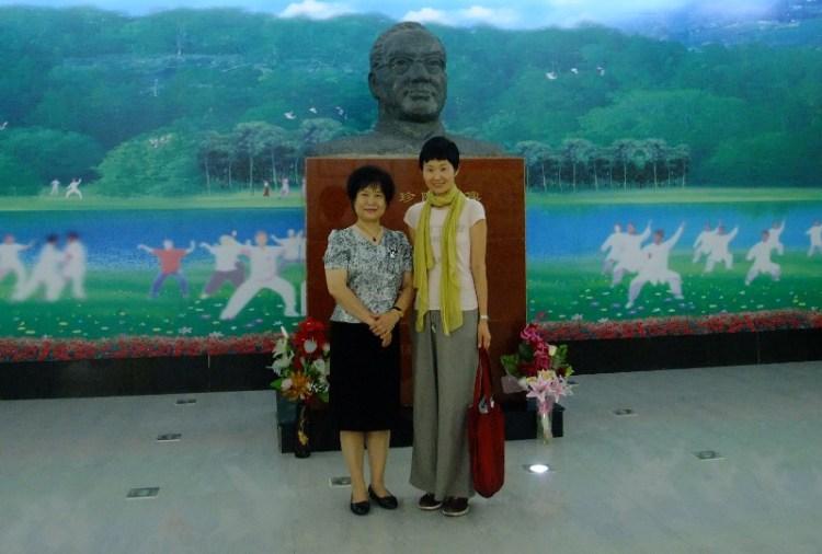 中国北戴河医療気功センターで劉亜非先生と森田英実
