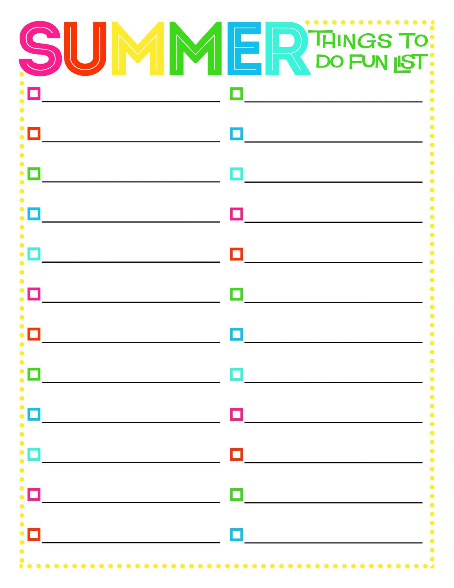 Best Summer Printables For Kids